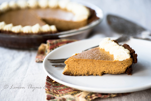 Pumpkin Pie with Gingersnap Cookie Crust recipe.
