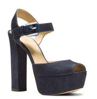 London denim peep-toe sandal - MK (140$)