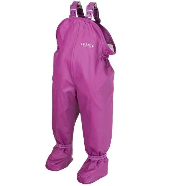 BMS-salopette-bebe-ciré-impermeable-avec-pieds-integres-violet