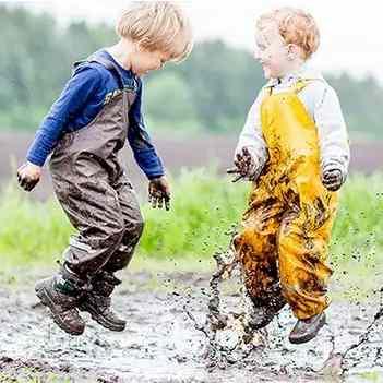 Jouer sous la pluie Salopette imperméable BMS enfant