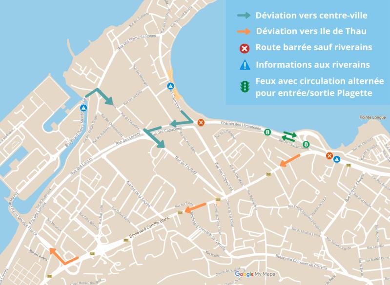 Plan travaux échangeur Marsault à Sète mai 2020