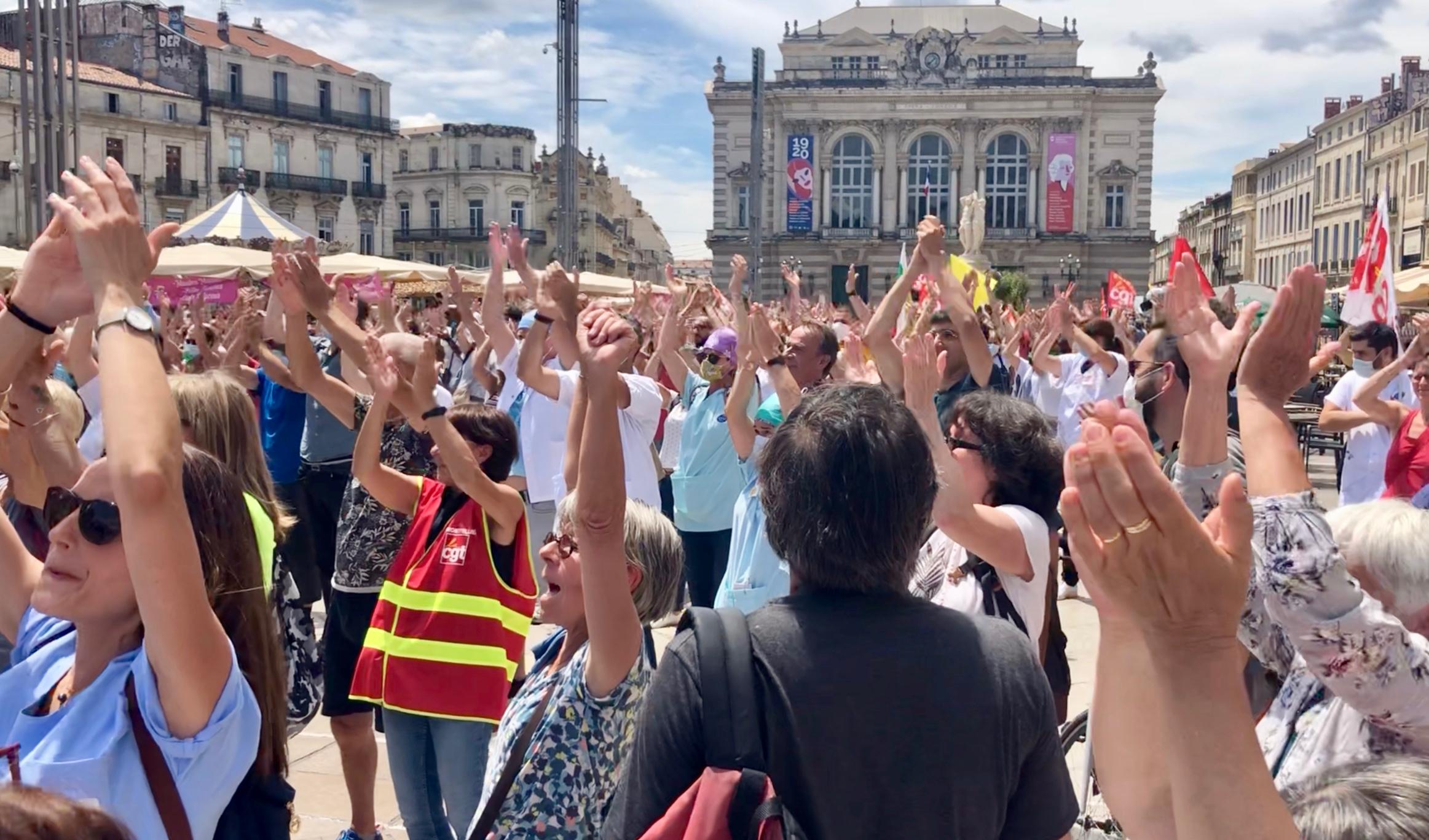 Montpellier, 16 juin 2020 mobilisation soignants