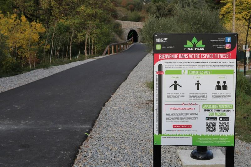 Saint-Hippolyte-Du-Fort (30): Nouveau parcours fitness sur la voie verte
