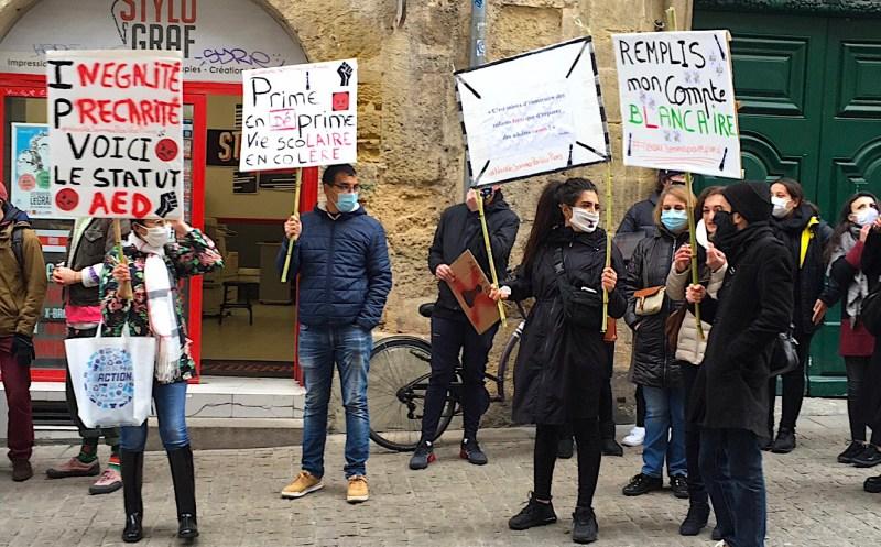 Montpellier Mobilisation assistants d'éducation