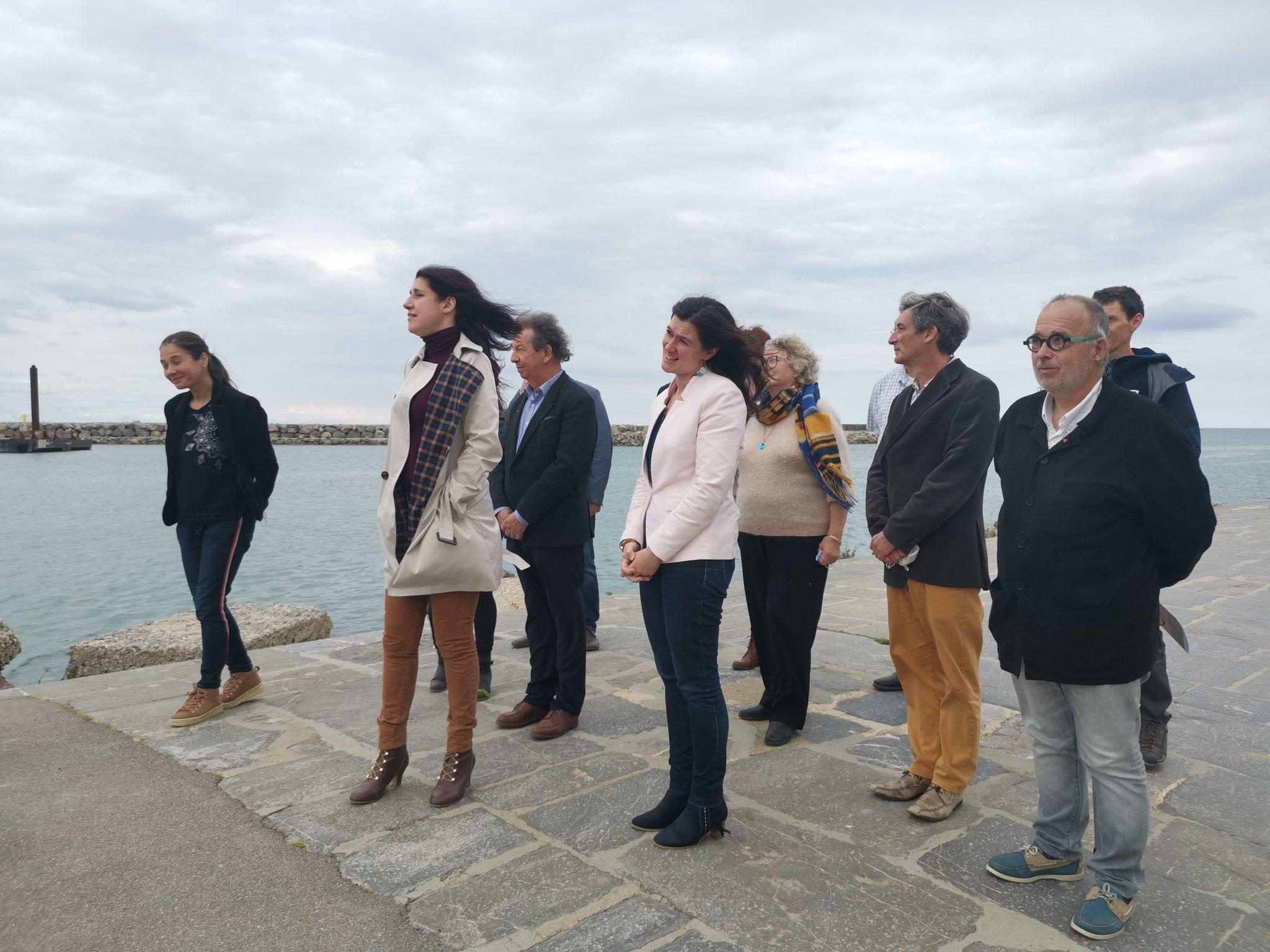 """""""Occitanie populaire"""" à Port-La-Nouvelle, Myriam Martin présente ses têtes de liste par département, Régionales 2021."""