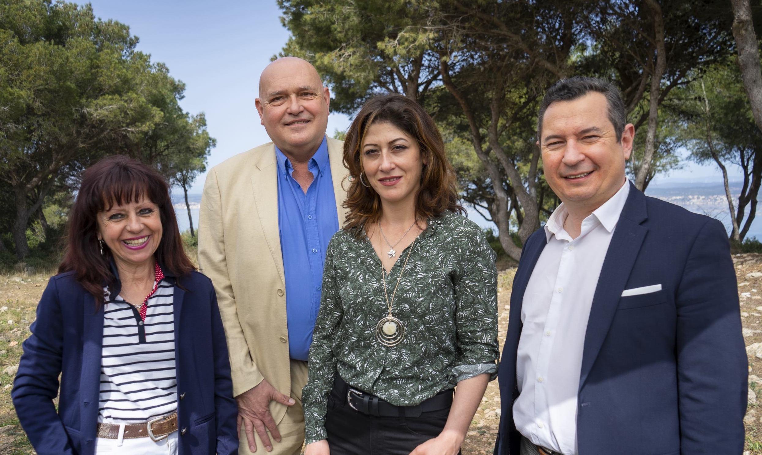 Départementales 2021 : Christine Tartière, Jean-Luc Grégoire, Sonia Fraysse, Sébastien Pacull canton de Sète
