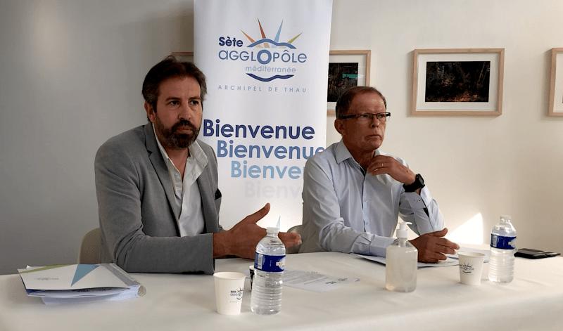 Loïc Linares, Jean-Guy Majourel, Sète Agglopôle Méditerranée - Juin 2021 (©JPV)