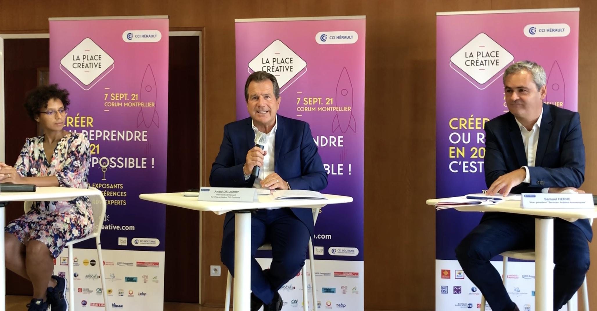 Montpellier, Point Presse Place Créative 2021 (©JPV)
