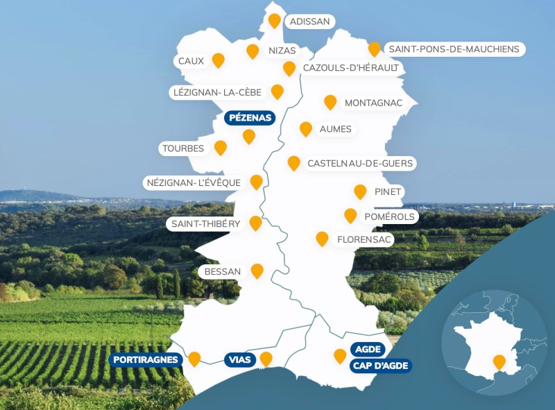 L'Office de Tourisme Cap d'Agde Méditerranée - Les villes et villages