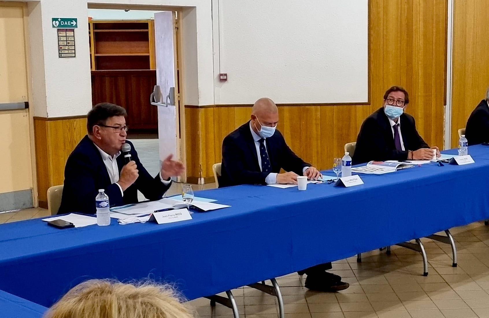 Réunion AMF34 à Pérols, Jean-Pierre Rico, Hugues Moutouh, Frédéric Roig - Septembre 2021 (©LMI)