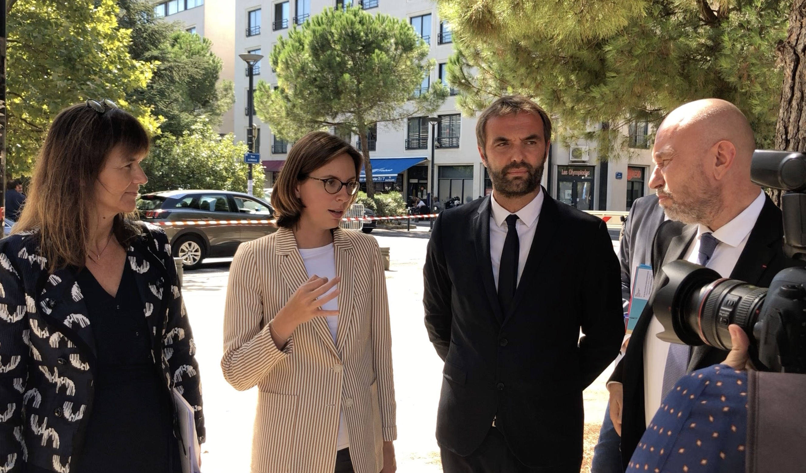 Septembre 2021 Sophie Béjean, Amélie de Montchalin, Michaël Delafosse, Philippe Augé (©JPV)