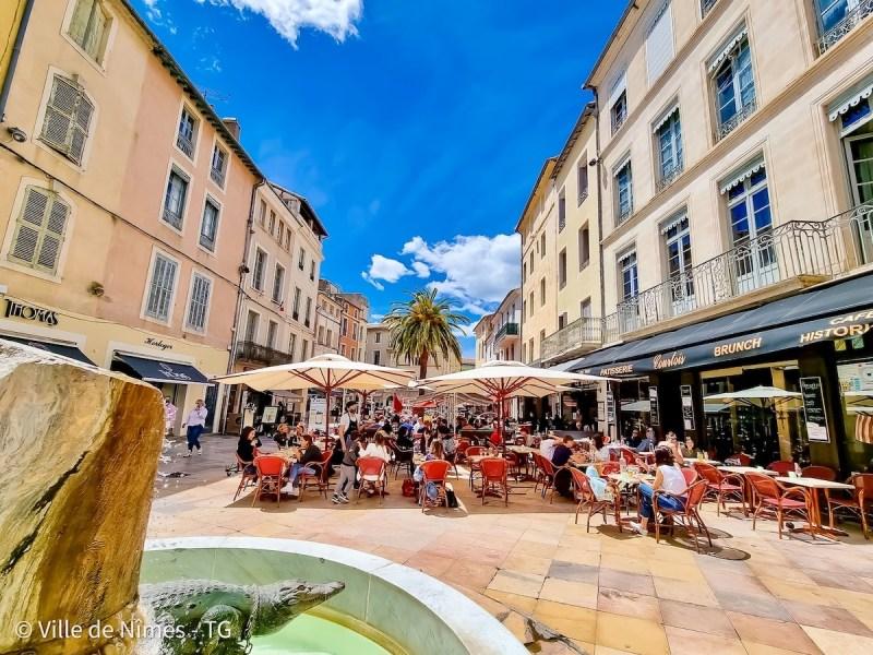 Ville de Nîmes terrasses ©ville de Nîmes TG