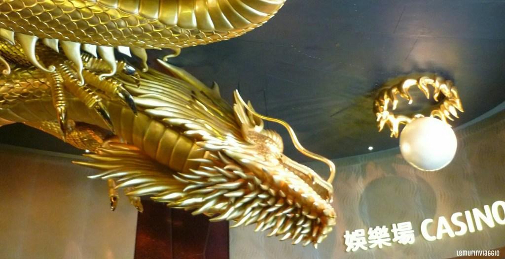 Un drago al Venetian, un Casinò di Macao