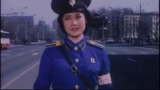 vigilessa agli incroci in Corea del Nord