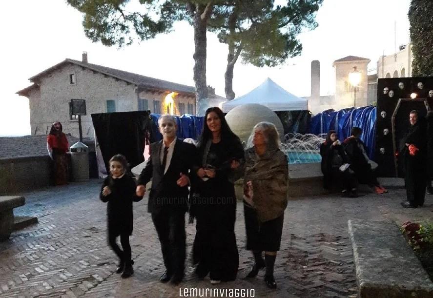 La famiglia Addams ad Halloween a San Marino