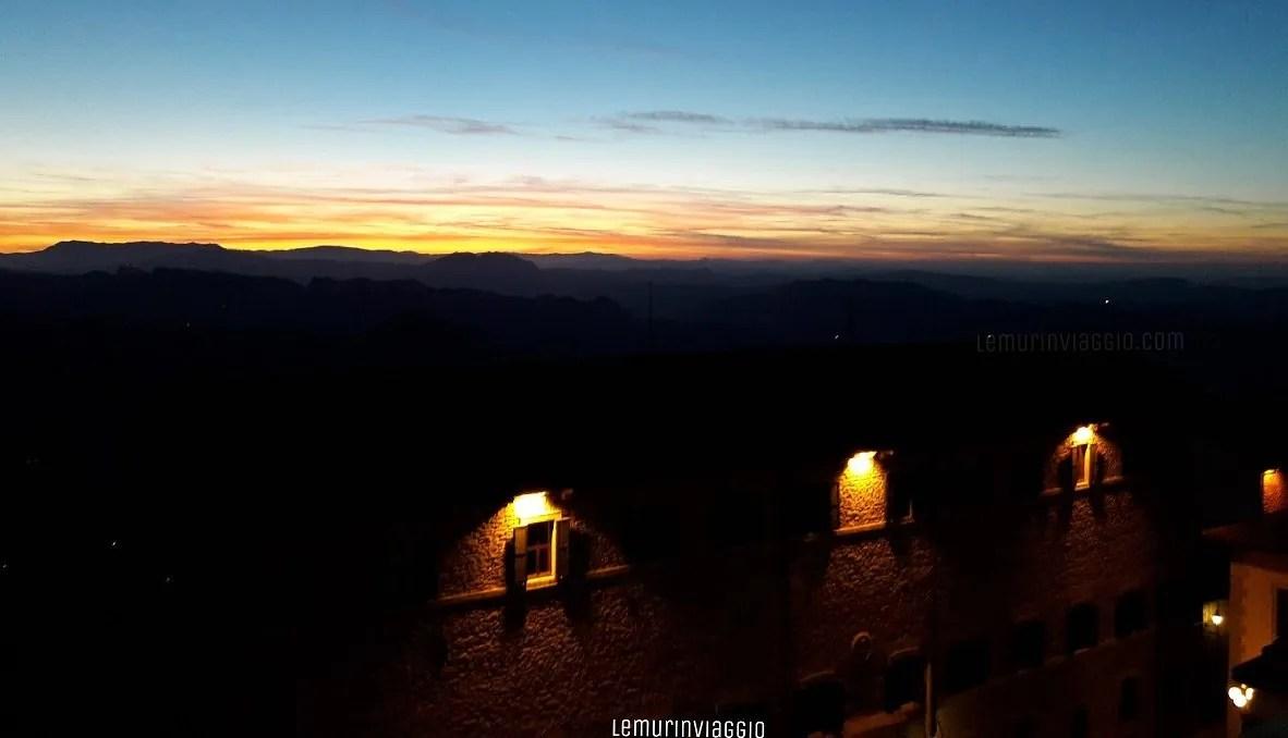 Tramonto a San Marino