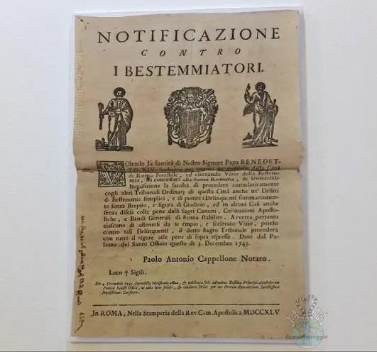 Bestemmiatori all epoca dell'inquisizione
