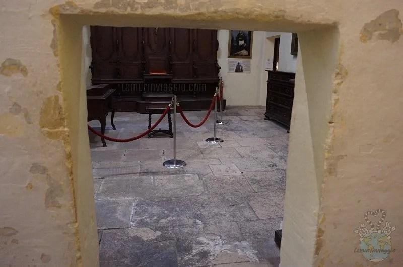Piccola porticina dove passava chi doveva essere sentenziato dall'Inquisitore di Malta