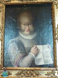 quadro della bambina irsuta che viveva nel castello di Blois