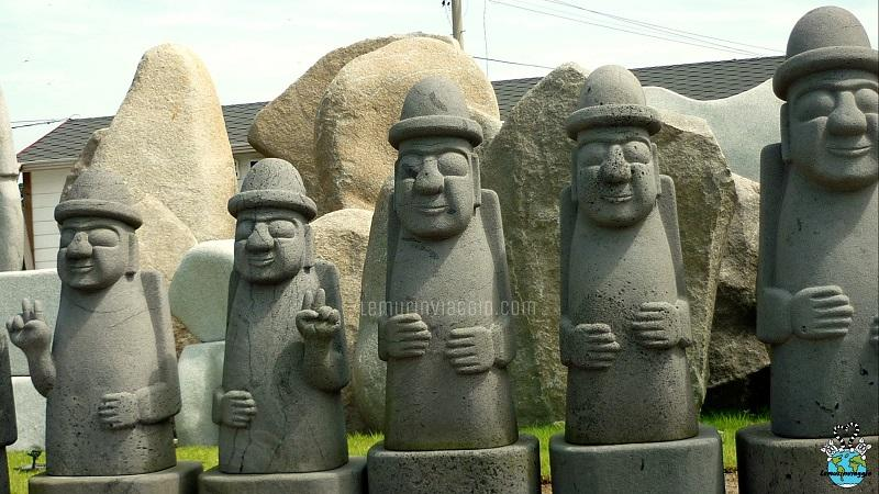 Nonnetti di Jeju simpatiche caricature di Dol Hareunbang