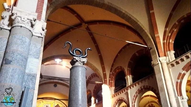 serpente nella basilica di Sant'Ambrogio