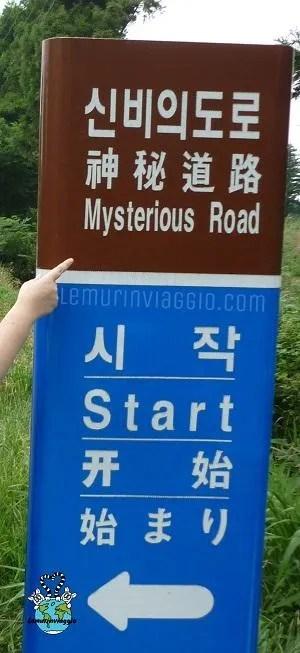 strada misteriosa a Jeju