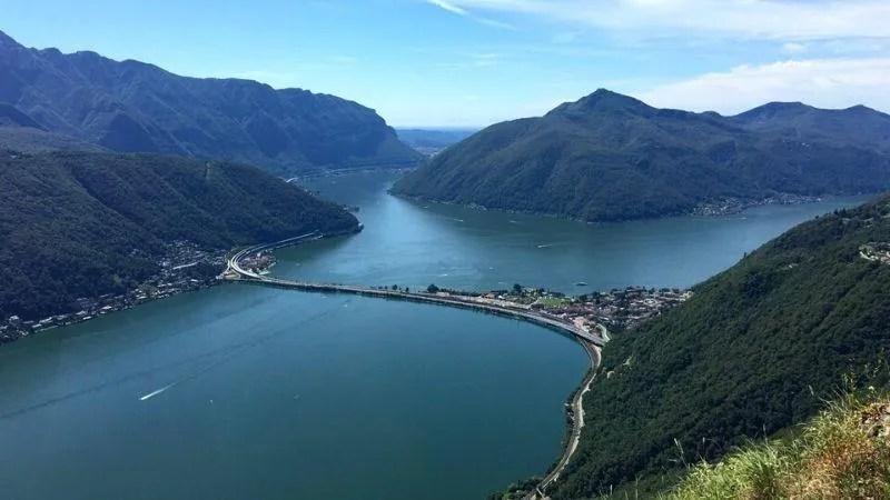 Lago di Lugano Canton Ticino in Svizzera