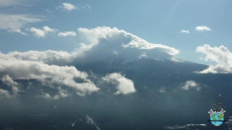 vista del Monte Fuji dal monte kachi kachi a Kawaguchiko