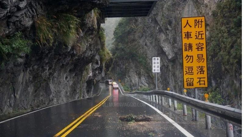 le strade del Taroko National Park di Taiwan sono tra le più pericolose al mondo