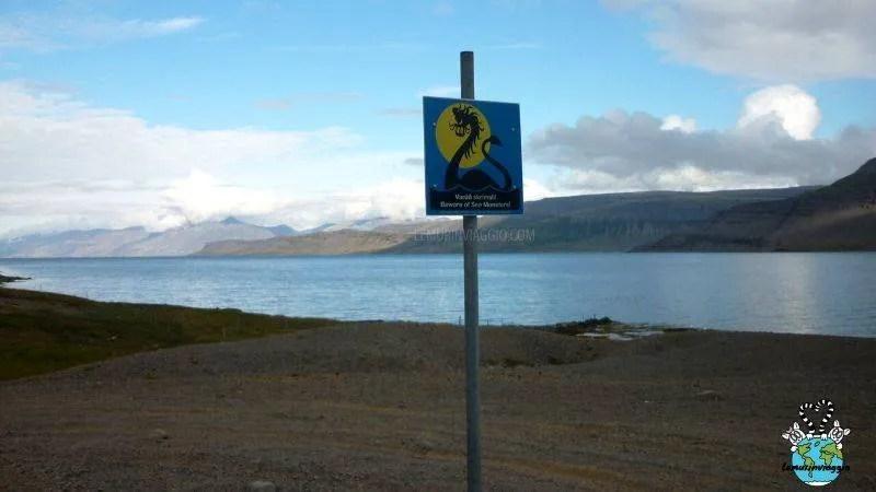 il leggendario mostro del lagarfljot in Islanda, dalle sembianze di un drago