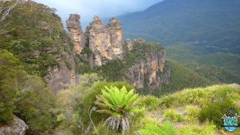 vista panoramica delle montagne a Katoomba