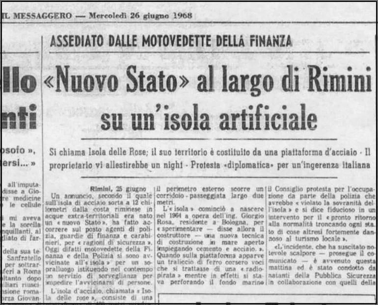 isola artificiale al largo di Rimini