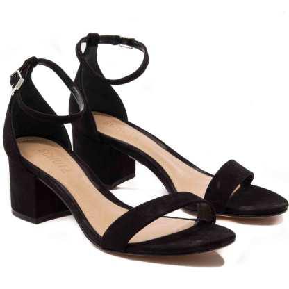 sandalia feminina de camurça schutz preta