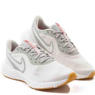 tenis de corrida nike feminino branco e cinza