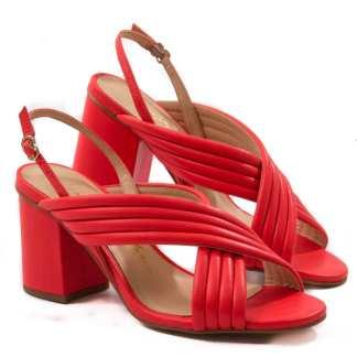 sandalia de salto vermelha luiza barcelos