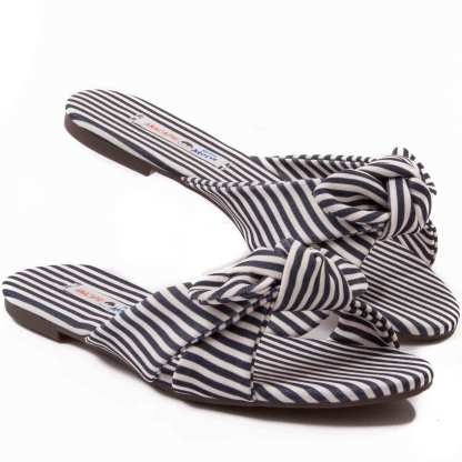 sandalia rasteira listrada anacapri