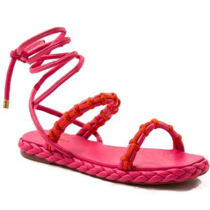 sandalia papete pink le mulher