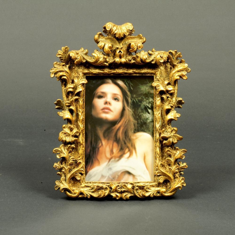 portafoto barocco dorato