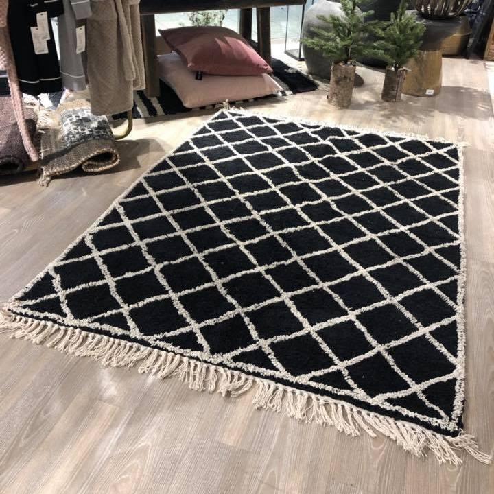 tappeto cotone nero