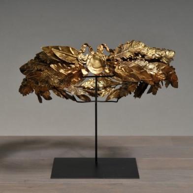 corona alloro Cesare oro