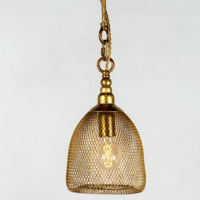 lampadario metallo dorato