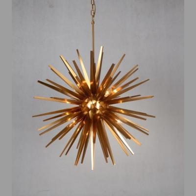 lampadario stella oro Kripton
