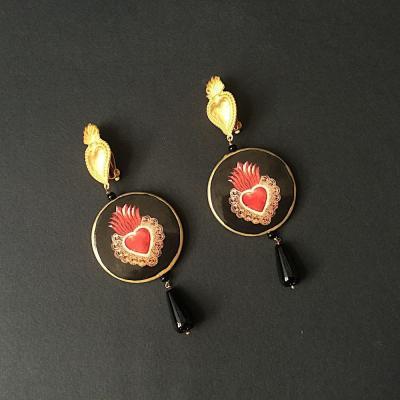 orecchini cuore fiammante