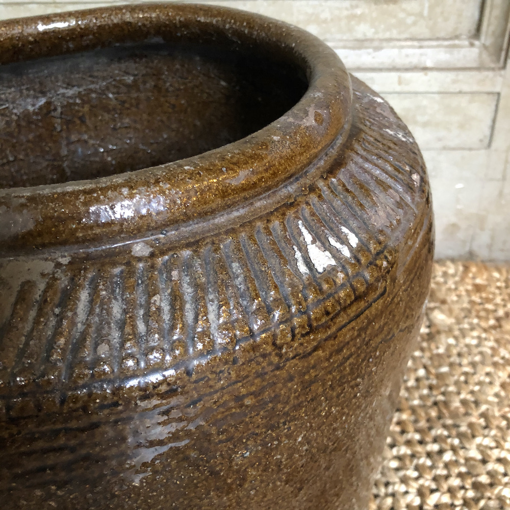 vaso vintage terracotta marrone L