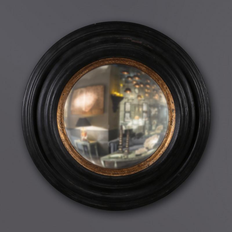 specchio nero oro convesso S