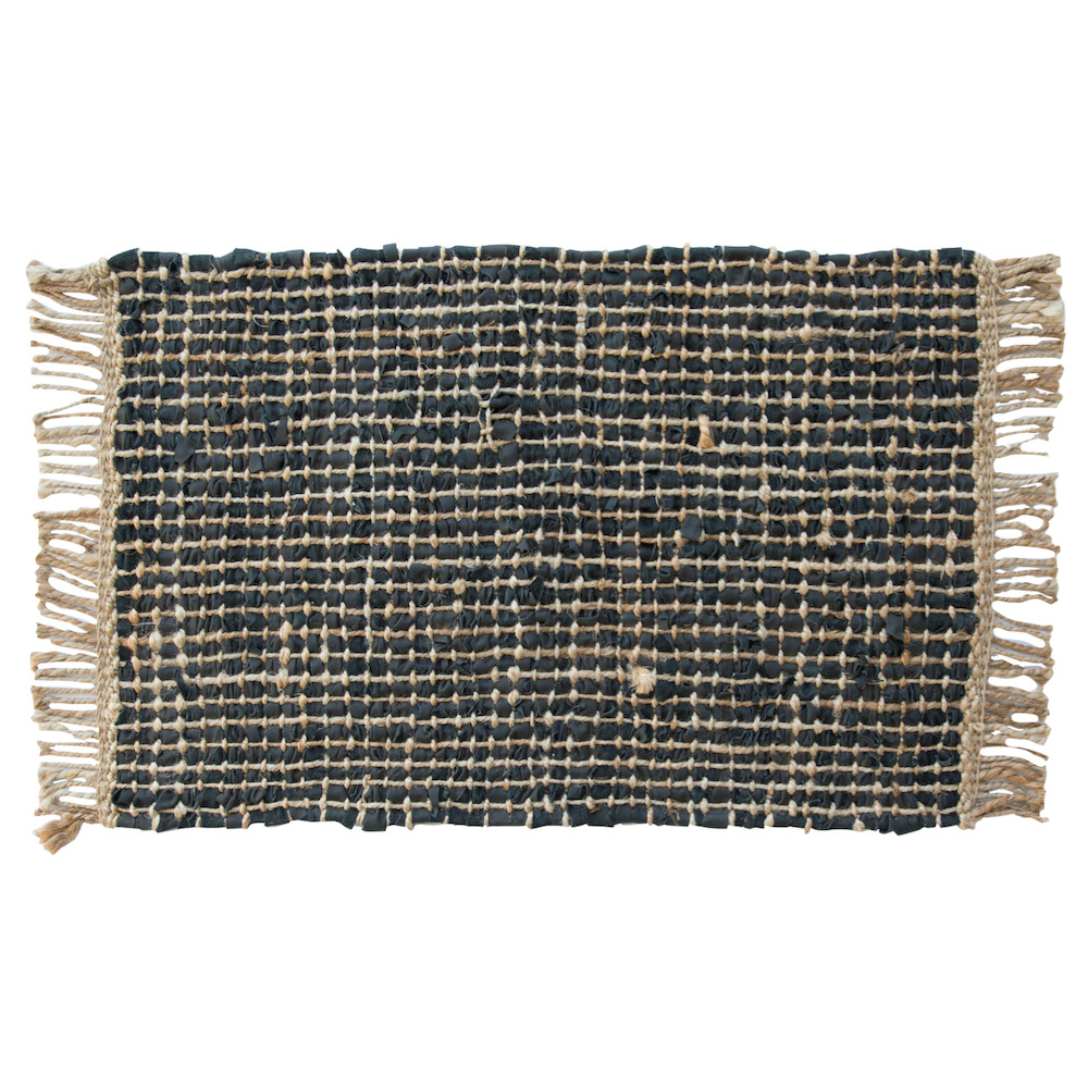 tappeto Estell pelle nero