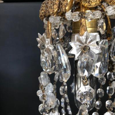 piccolo lampadario cristalli