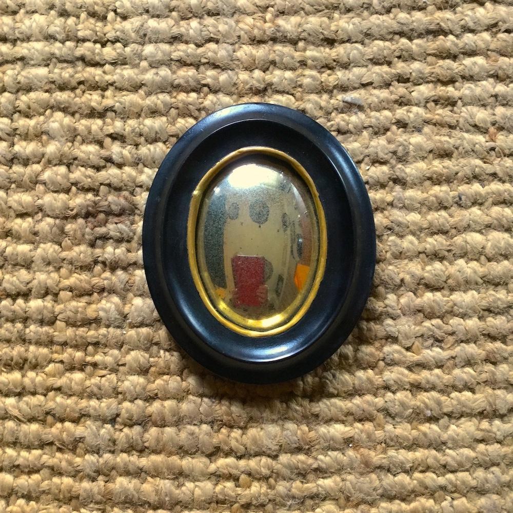specchio ovale convesso