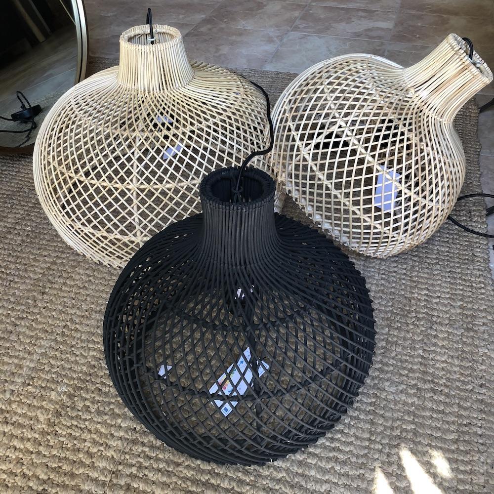 lampadari rattan