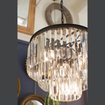lampadario cristalli e ferro